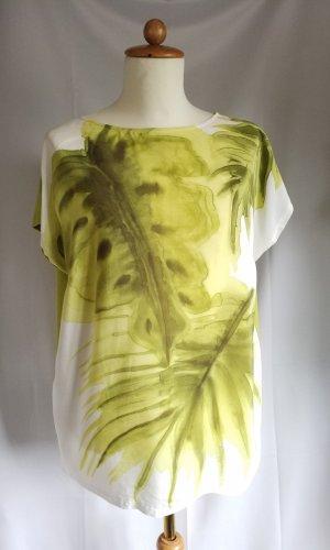 Marina Rinaldi Silk Blouse white-grass green