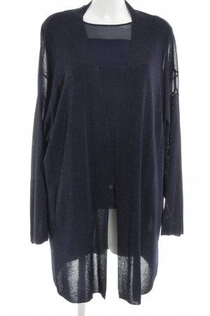 Marina Rinaldi Strick Twin Set blau Casual-Look