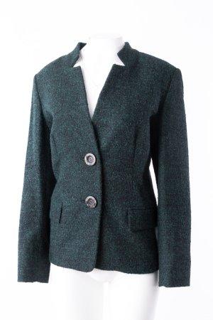 MARINA RINALDI - Tweed-Blazer Smaragdgrün-Schwarz