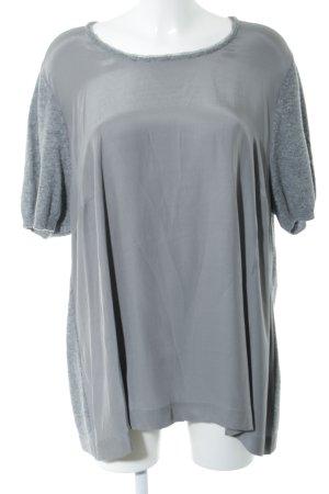 Marina Rinaldi Wollen jurk zilver casual uitstraling