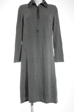 Marina Rinaldi Vestido de lana violeta grisáceo-gris look casual