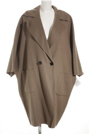 Marina Rinaldi Cappotto in lana marrone-grigio elegante
