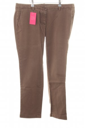 Marina Yachting Boyfriend Trousers brown casual look