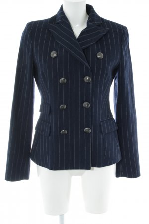 Marina Yachting Wool Blazer blue striped pattern classic style