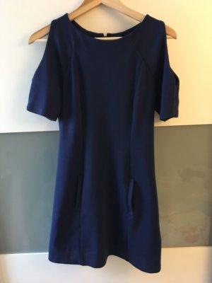 Marinblaues Kleid mit Cutout-Shoulders von Asos