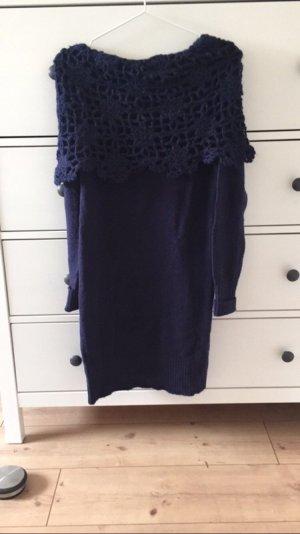 Preziosa Jersey largo violeta oscuro-azul oscuro