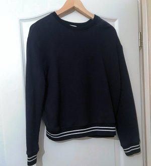 Marine-Look Sweatshirt mit Seideneinsatz von Sandro Paris