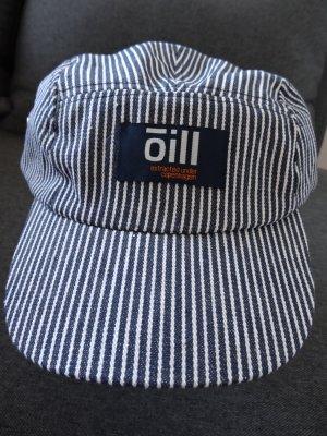 Marineblau-weiss gestreiftes Basecap von Oill