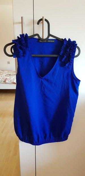 marineblaue Bluse von Zara in Gr XS