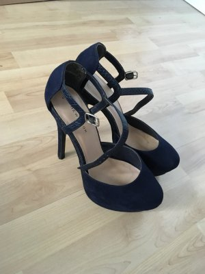 Marineblaue High Heels
