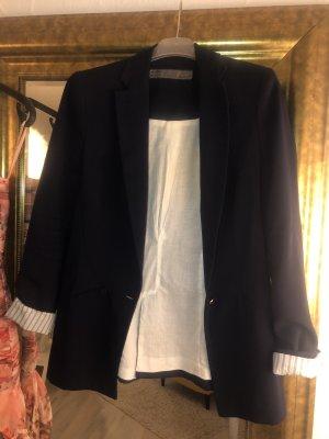 Zara Basic Lange blazer donkerblauw