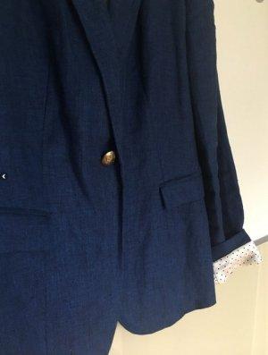 Zara Spijkerblazer blauw Katoen