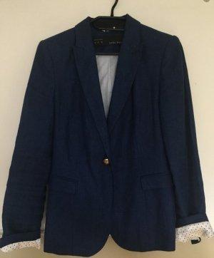Zara Blazer en jean bleu coton