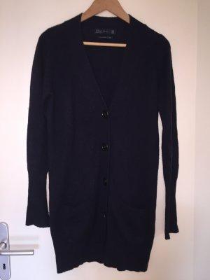 Zara Cardigan in maglia blu scuro Seta