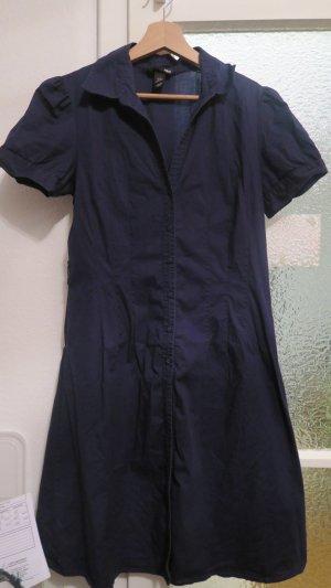 Marineblaues Blusenkleid von H&M