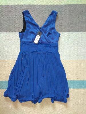 marineblaues, glockenförmiges Cocktail-/Partykleid von Vero Moda (36, neuwertig)