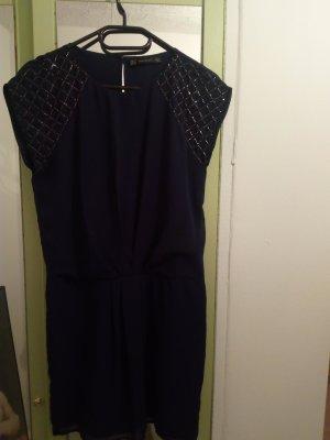 Zara Trafaluc Mini-jurk zilver-donkerblauw