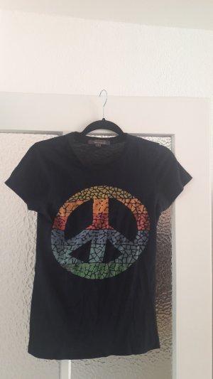 Marineblaues Shirt mit Peace-Zeichen