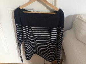 H&M Stripe Shirt dark blue-white cotton