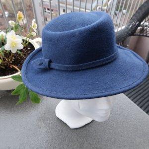 Cappello in feltro blu scuro Lana