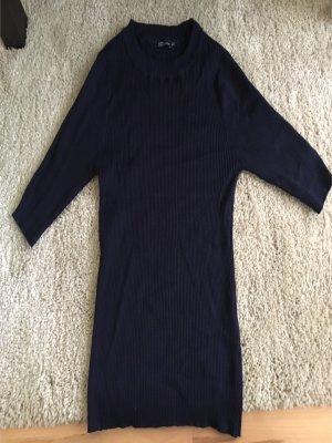 Bershka Camisa tejida azul oscuro-azul