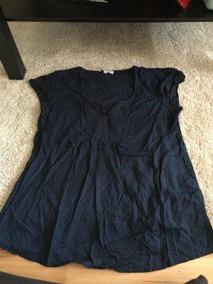 Marinefarbenes Blusenshirt
