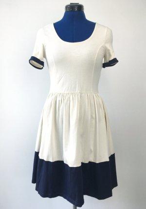 Jersey Dress natural white-dark blue