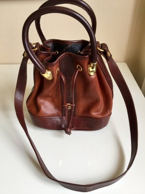 Pouch Bag brown-dark brown leather