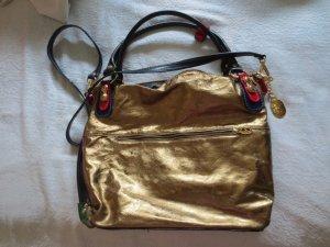 Marino Orlandi Ledertasche,Gold gut erhalten
