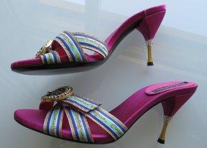 Sandalo con tacco rosa