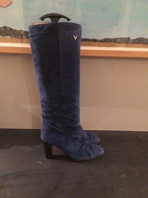 Mario Valentino blaue Vintage Stiefel Gr. 39 sehr gut