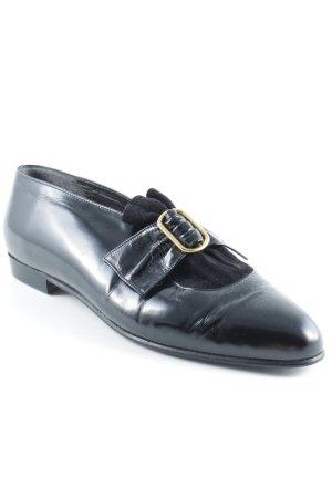 Mario Valentino Schlüpfschuhe schwarz klassischer Stil