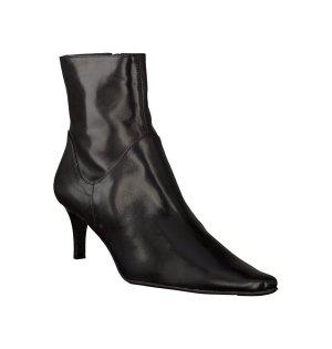 Maripe Absatz Stiefeletten aus Leder schwarz Gr. 36