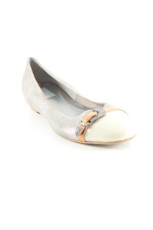 Maripé Ballerinas mit Spitze grau-silberfarben Street-Fashion-Look