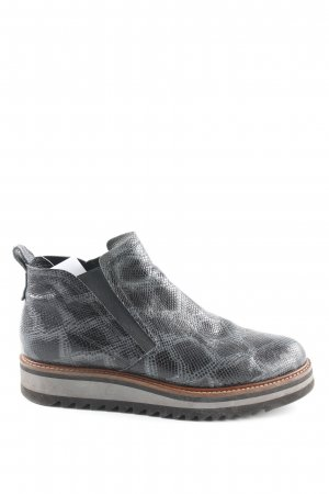 Maripé Chelsea Boots grau-schwarz Animalmuster Animal-Look