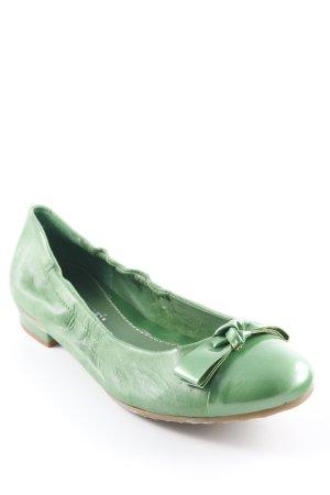 Maripé faltbare Ballerinas grasgrün extravaganter Stil
