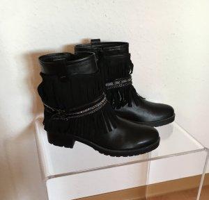 Maripé Fransen Boots Schwarz in Größe 41
