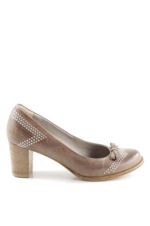 Maripé High Heels braun-bronzefarben Business-Look