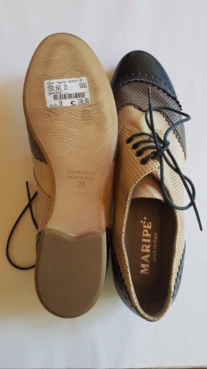 MARIPE italienischer Halbschuh Budapester Loafer Leder Gr. 38 nur anprobiert NEU