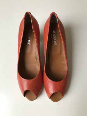 Maripé Pumps dark orange-neon orange leather