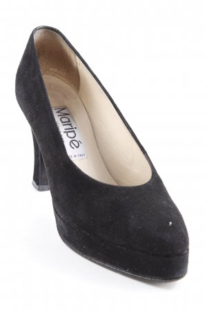 Maripé Plateau-Pumps schwarz-creme Business-Look