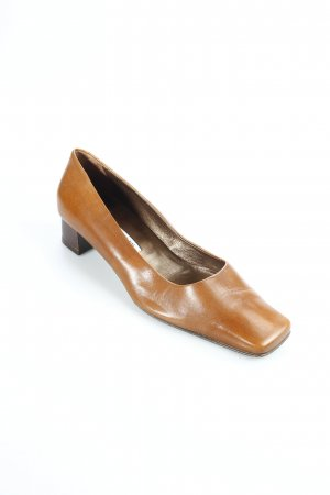 Maripé Pumps braun-dunkelbraun Retro-Look