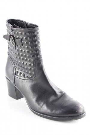 Maripé Reißverschluss-Stiefeletten schwarz Karomuster Brit-Look