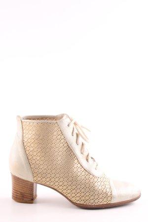 Maripé Stivaletto stringato bianco-crema elegante