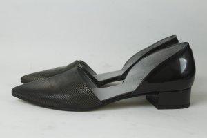 Maripé Slipper Gr. 39 silber schwarz