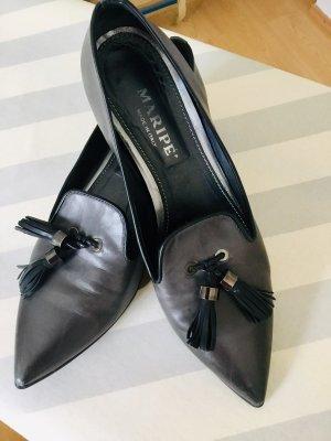 Maripé Slippers dark grey leather