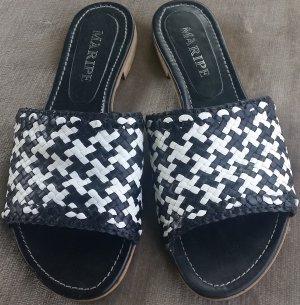 Maripé Sandale d'extérieur noir-blanc cuir