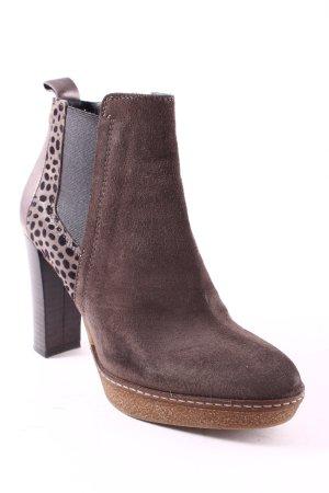 Maripé Booties grey brown-black spot pattern classic style