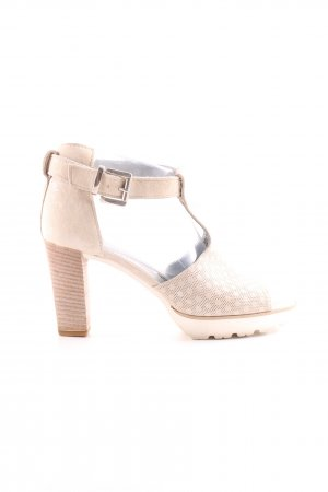 Maripé T-Steg-Sandaletten creme-weiß Punktemuster Business-Look