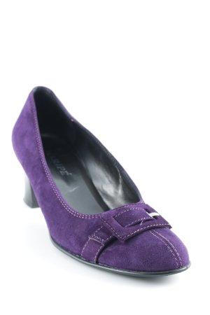 Maripé Loafer viola scuro elegante